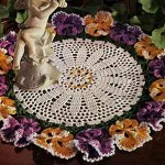 Pansy Doily ~ Free Vintage Crochet