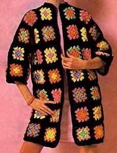 Afghan Coat ~ Free Vintage Crochet