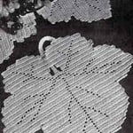 Maple Leaf Luncheon Set ~ Free Vintage Crochet