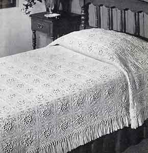 Puritan Bedspread ~ Free Vintage Crochet