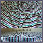 Striped Blanket ~ Rhelena - CrochetN'Crafts