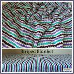 Striped Blanket ~ Rhelena – CrochetN'Crafts