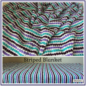 Striped Blanket ~ Rhelena - CrochetN'Crafts