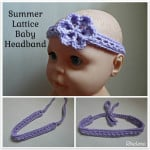 Summer Lattice Baby Headband ~ Rhelena – CrochetN'Crafts
