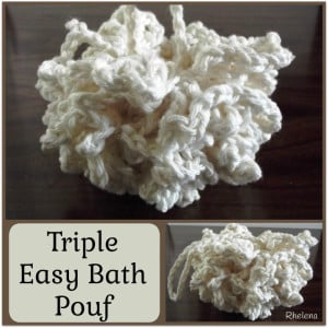 Triple Easy Bath Pouf ~ Rhelena - CrochetN'Crafts
