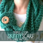 Triple Loop Skinny Scarf ~ Rebecca Langford - Little Monkeys Crochet