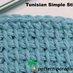 Tunisian Simple Stitch ~ Pattern Paradise
