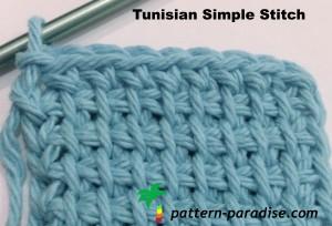 Tunisian Simple Stitch ~ Pattern Paradise