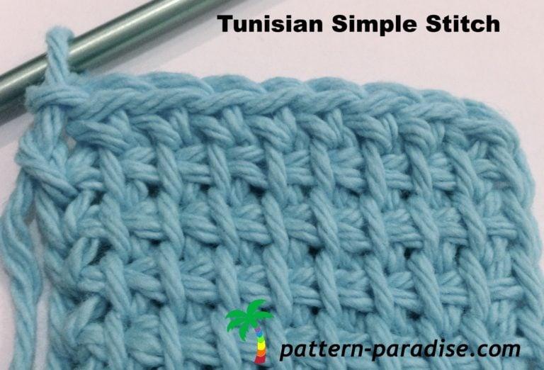 Tunisian Simple Stitch Crochet Tutorial