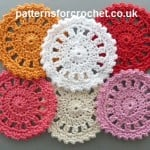 Round Coaster ~ Patterns For Crochet