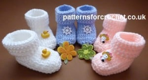 Cozy Toe Booties ~ Patterns For Crochet