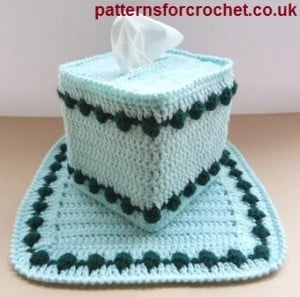 Centre Piece & Tissue Box Cover ~ Patterns For Crochet