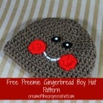 Preemie Gingerbread Boy Hat ~ Cream Of The Crop Crochet