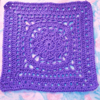 Amethyst 12″ Square ~ SmoothFox Crochet and Knit
