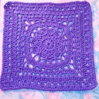 "Amethyst 12"" Square ~ SmoothFox Crochet and Knit"