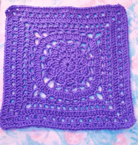 """Amethyst 12"""" Square ~ SmoothFox Crochet and Knit"""