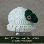 Preemie Leaf Hat ~ Cream Of The Crop Crochet