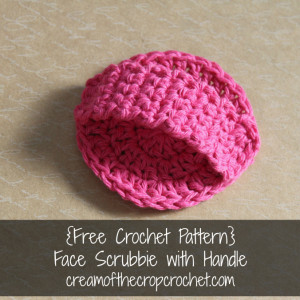 Face Scrubbie With Handle ~ Cream Of The Crop Crochet