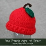 Preemie Apple Hat ~ Cream Of The Crop Crochet