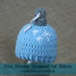 Preemie Ornament Hat ~ Cream Of The Crop Crochet