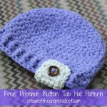 Preemie Button Tab Hat ~ Cream Of The Crop Crochet