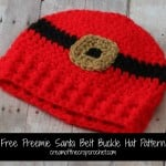 Preemie Santa Belt Buckle Hat ~ Cream Of The Crop Crochet