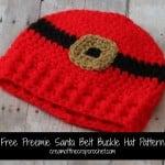 Preemie Santa Belt Buckle Hat ~ Cream Of The Crop Crochet