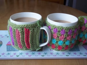 Crochet Mug Cosies ~ Lucy 'In the Sky'