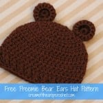 Preemie Bear Ears Hat ~ Cream Of The Crop Crochet