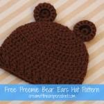 Preemie Bear Ears Hat ~ Cream Of The Crop Crochet