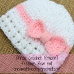 Preemie Bow Hat ~ Cream Of The Crop Crochet