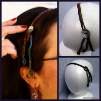 Simple Hair Tie Back with Button ~ Jessie At Home