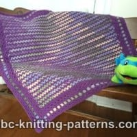 Forest Meadows Baby Blanket ~ ABC Knitting Patterns