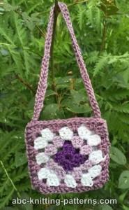 American Girl Doll Granny Square Bag ~ ABC Knitting Patterns
