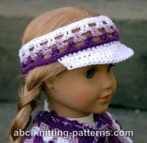 American Girl Doll Visor ~ ABC Knitting Patterns