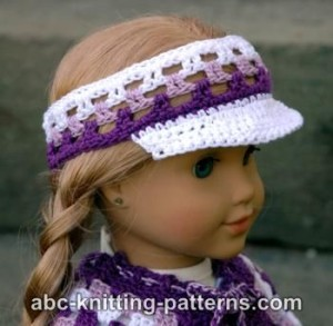 American Girl Doll Visor ~ ABC Knitting Patterns