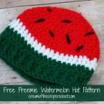 Preemie Watermelon Hat ~ Cream Of The Crop Crochet