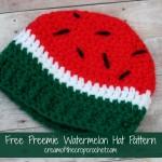 Preemie Watermelon Hat ~ Cream Of The Crop Crochet