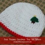 Preemie Christmas Tree Hat ~ Cream Of The Crop Crochet