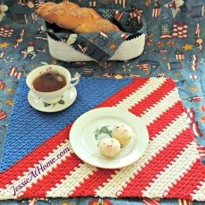Crochet Patriotic Placemat ~ Jessie At Home