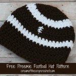 Preemie Football Hat ~ Cream Of The Crop Crochet