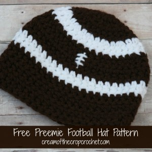 Preemie Football Hat ~ Cream Of The Crop Crochet