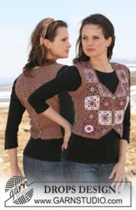 Waistcoat with Squares ~ DROPS Design