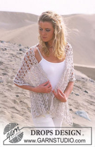 Wide Crochet Scarf ~ DROPS Design
