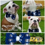 Plaid Collar Bow Slip On ~ Manda Proell - MandaLynn's Crochet Treasures