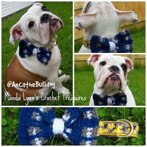 Plaid Collar Bow Slip On ~ Manda Proell - MandaLynn's Crochet Treasures