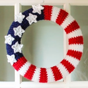 American Flag Wreath ~ Petals to Picots