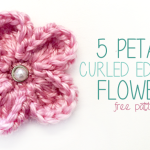 5 Petal Curled Edge Flower ~ Rebecca Langford – Little Monkeys Crochet
