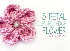 5 Petal Curled Edge Flower ~ Rebecca Langford - Little Monkeys Crochet