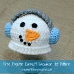 Preemie Earmuff Snowman Hat ~ Cream Of The Crop Crochet